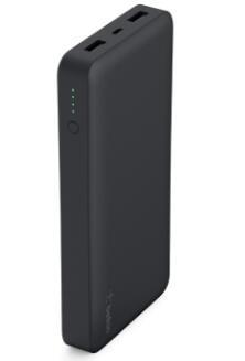 Image 1 of Belkin Pocket Power Bank 15 000mah Usb (2) Mirco Usb (1) Black 2yr Wty F7u021btblk F7U021BTBLK