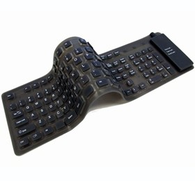 Image 1 of Usb Foldable Waterproof Silicone Soft Keyboard W/ 109 Keys Black