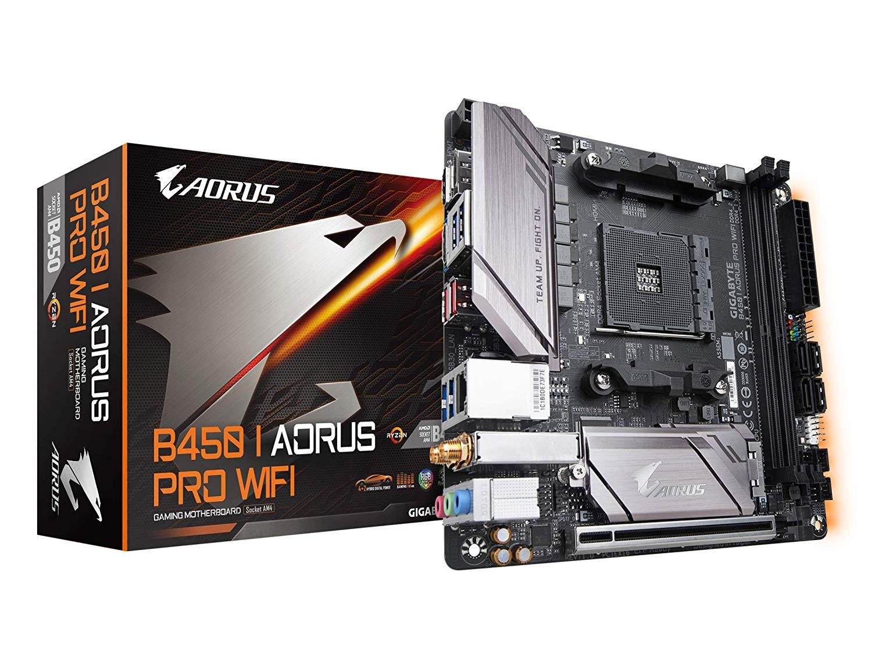 Image 1 of Gigabyte B450 I Aorus Pro Wifi Mb Am4 2xddr4 4xsata 1xm.2 Usb3.1 Wifi Mini Itx 3yr Ga-b450-i-aorus-pro-wifi GA-B450-I-AORUS-PRO-WIFI