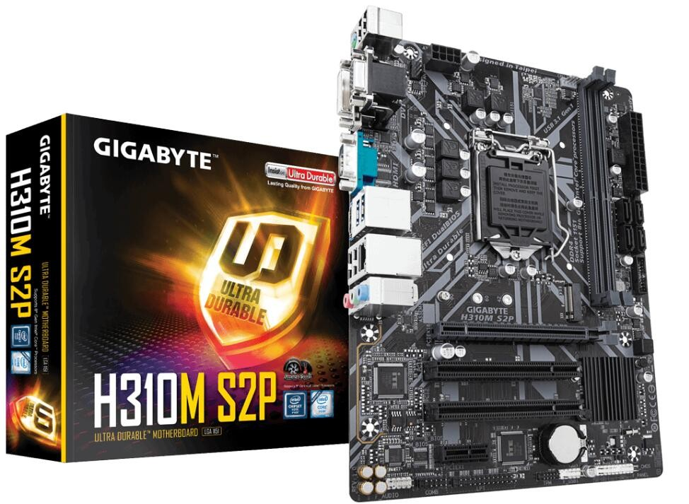 Image 1 of Gigabyte H310m-s2p Mb 1151 2xddr4 4xsata 1xm.2 Usb3.1 Uatx 3yr Ga-h310m-s2p GA-H310M-S2P