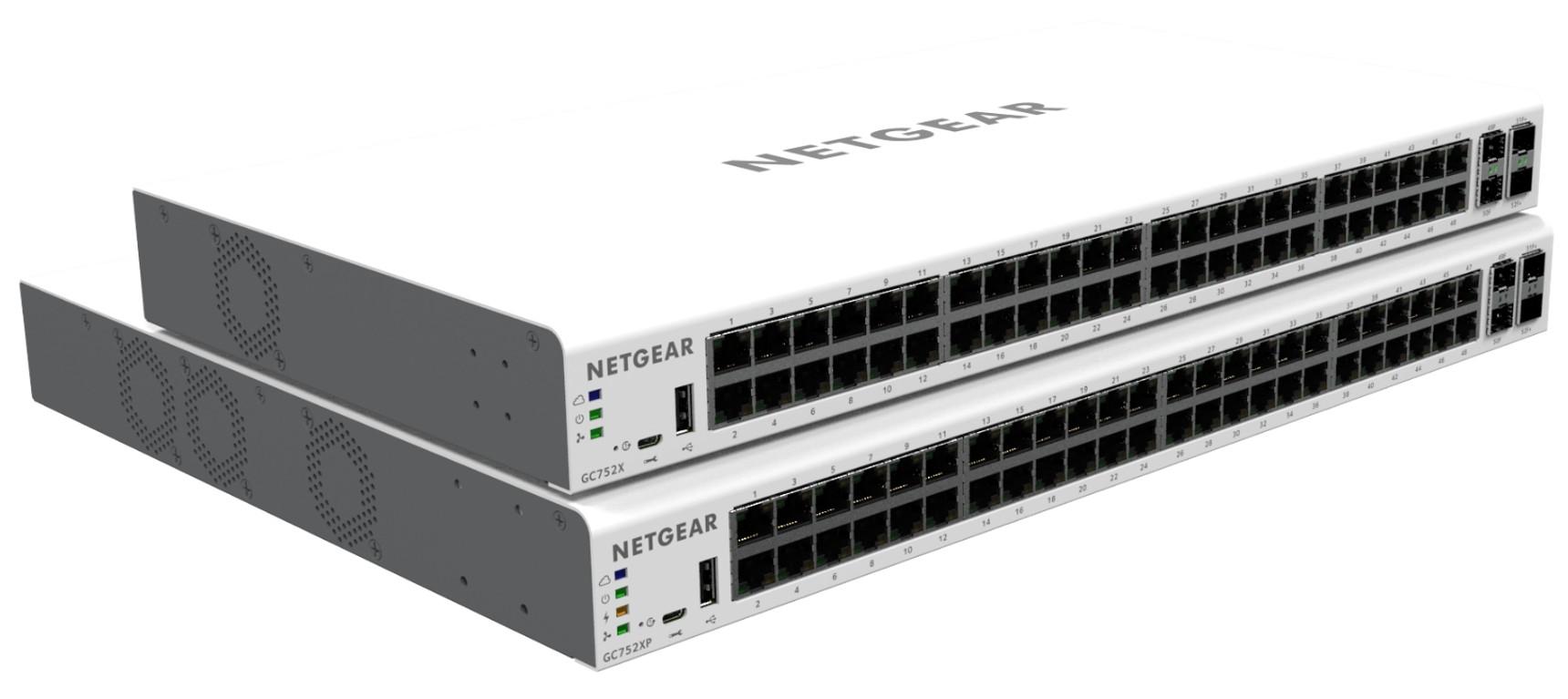 Image 1 of Netgear Insight Managed 52-port Gigabit Ethernet Smart Cloud Switch With 2 Sfp And 2 Sfp+ 10g Fibre GC752X-100AJS