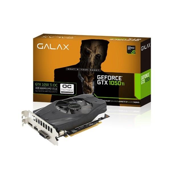 Image 1 of Galax 4Gb Gtx1050 Ti Oc Graphics Card 128-Bit Ddr5 - Dp 1.4, Hdmi 2.0B, Dual Link-Dvi-D Glx-50Iqh8Dsn8Oc GLX-50IQH8DSN8OC