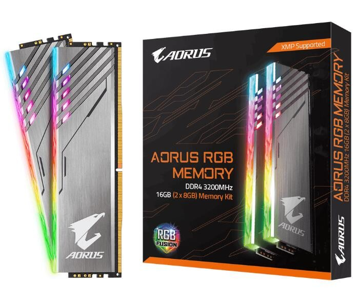 Image 1 of Gigabyte Aorus Rgb Gaming Memory 16Gb (2X8Gb) Ddr4 3200Mhz C16 1.35V 16-18-18-38 Xmp Dual Channel GP-AR32C16S8K2HU416R