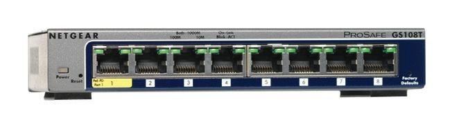 Image 1 of Netgear Gs108t-v2 Gs108t-200aus, 8-port Full Duplex Gigabit Smart Switch GS108T-200AUS