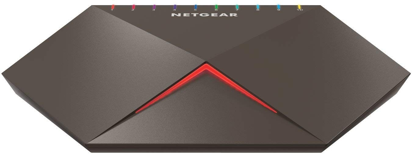 "Image 1 of Netgear ""Nighthawk Sx10"" Gs810Emx 8-Port Switch With 2X 10G/ Multi-Gig Uplinks Gs810Emx-100Aus GS810EMX-100AUS"