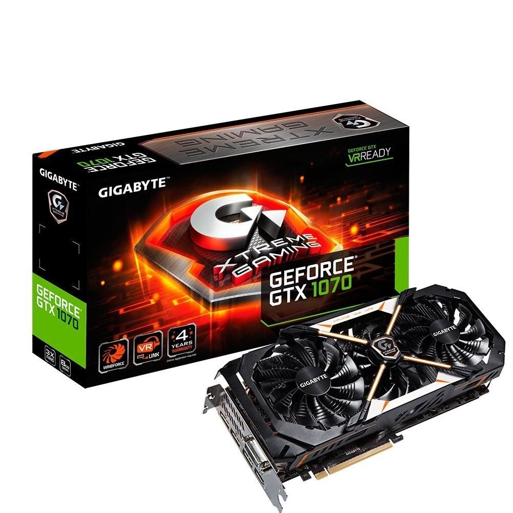 Image 1 of Gigabyte NVIDIA GeForce GTX 1070 Xtreme Gaming 8GB GV-N1070XTREME-8GD GV-N1070XTREME-8GD