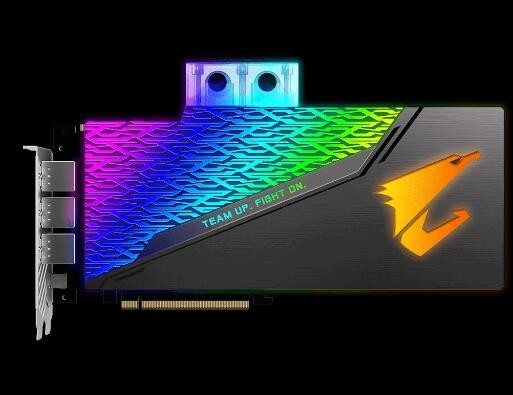 Image 1 of Gigabyte Gf Rtx 2080 Pcie X16 8Gb Gddr6 Aorus X Waterblock For Liquid Cooled System Onl Gv-N2080Aorus-X-Wb-8Gc GV-N2080AORUS-X-WB-8GC