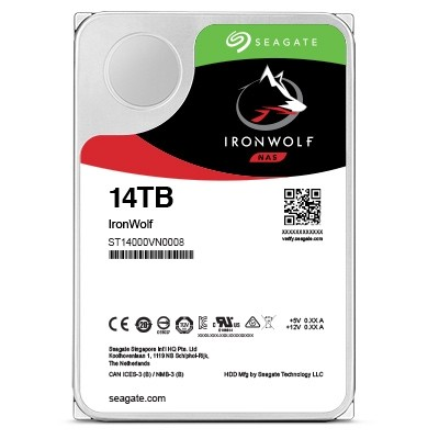 Image 1 of Seagate Ironwolf Pro 14Tb Sata 3.5In 256Mb 7200Rpm Enterprise Nas St14000Ne0008 ST14000NE0008
