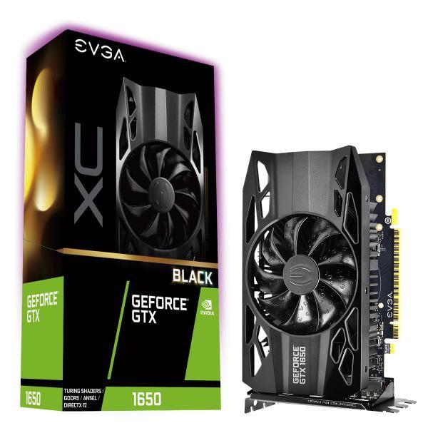 Image 1 of Evga Geforce Gtx1650 Black Xc Gaming Graphics Card 4Gb Gddr5 Pcie - 04G-P4-1151-KR 04G-P4-1151-KR