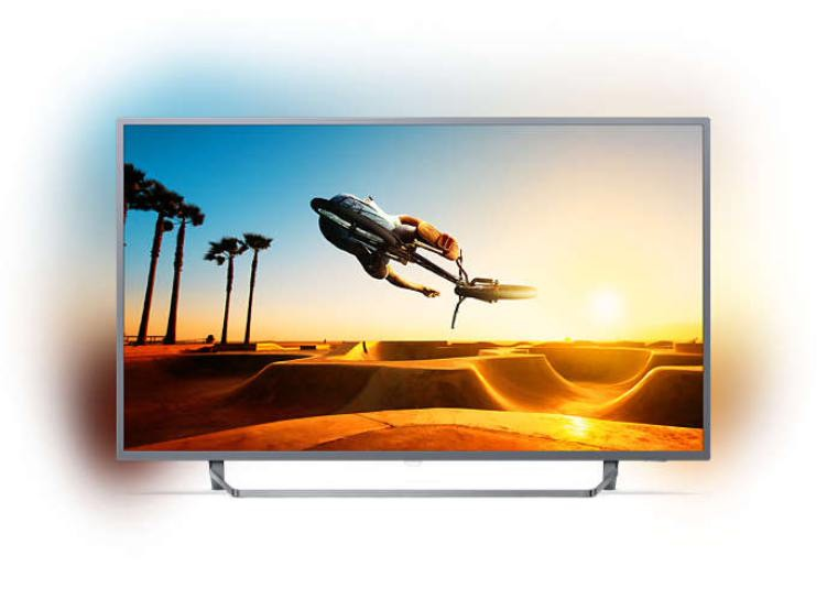 """Image 1 of Philips 7300 Series 139 Cm (55"""" ) 4K Ultra Slim Tv Powered By Android Tv With Ambilight 3-Sided 55PUT7303/79"""