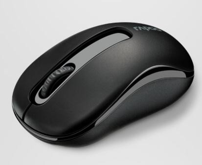 Image 1 of Rapoo M10 Plus 2.4Ghz Wireless Optical Mouse Black - 1000Dpi 3Keys M10 Plus Black M10Plus-Black