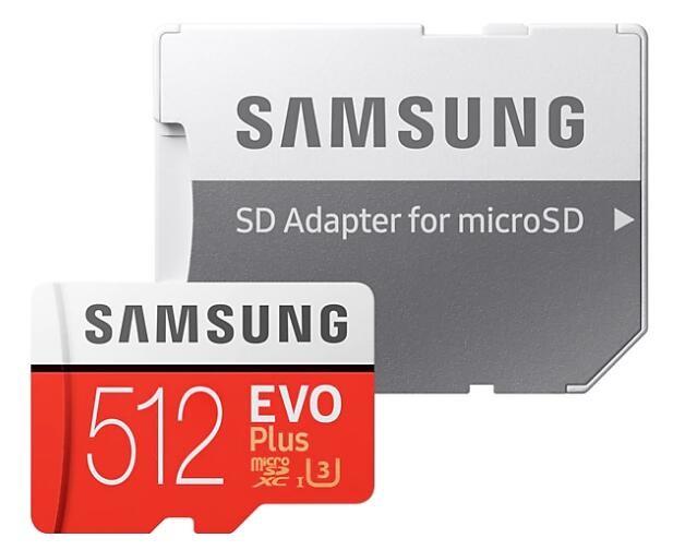 Image 1 of Samsung Evo Plus 512Gb Micro Sdxc With Sd Adapter Mb-Mc512Ga/Apc MB-MC512GA/APC
