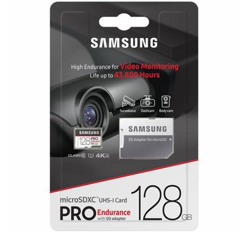 Image 1 of Samsung Pro Endurance 128GB Micro SDXC Card with Adapter 100MB/s U1 MB-MJ128GA MB-MJ128GA/APC