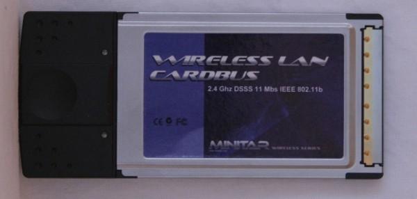 Image 1 of Minitar Mnw2bpcm 802.11b Cardbus Pcmcia Wireless Adapter