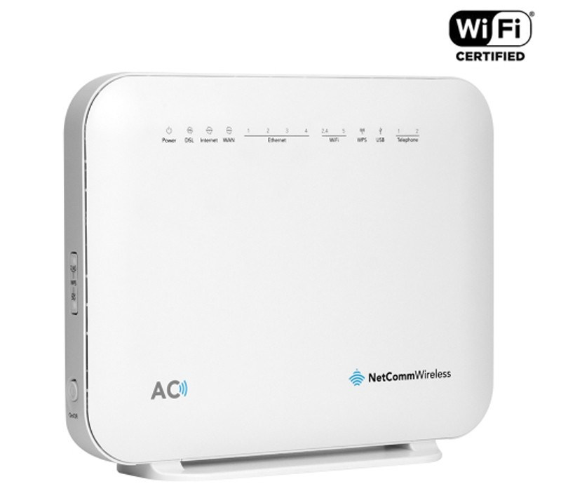 Image 1 of Netcomm NF18ACV AC1600 Wi-Fi XDSL Modem Router With Voice, NBN, 4x Giga Lan, 2x VOIP, USB NF18ACV
