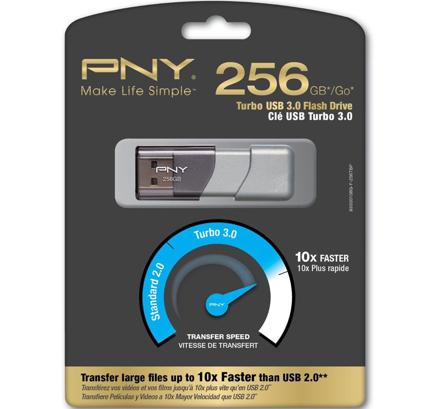 Image 1 of Pny 256gb Turbo Usb 3.0 Flash Drive Up To 10x Faster Than Standard Usb 2.0 Flash P-fd256tbop-ge P-FD256TBOP-GE
