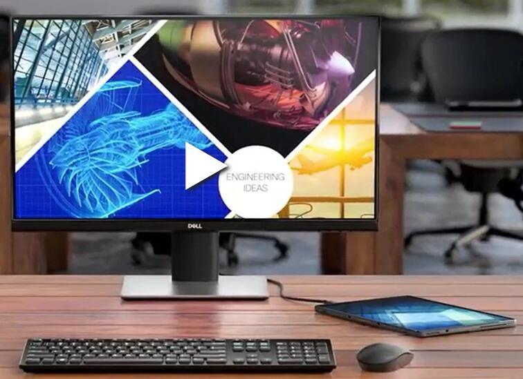 Image 1 of Dell 23.8in P2419hc 16:9 Ips 1920x1080 60hz 8ms 250cd/m2 Height-adjustable Tilt Swivel Pivot Vesa P2419HC