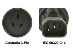 Image 1 of Au To Iec 60320 C14 Power Plug Adapter PA-3235