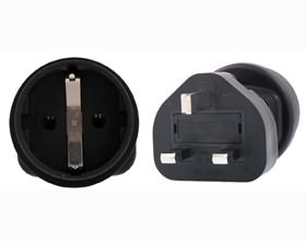 Image 1 of Schuko To Uk 3 Pin Plug Adapter PA-6023