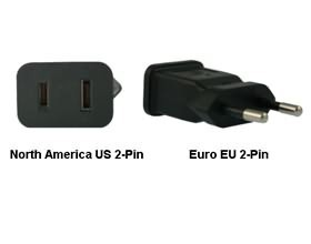 Image 1 of North America Us To Euro Eu Power Adapter Plug PA-2121