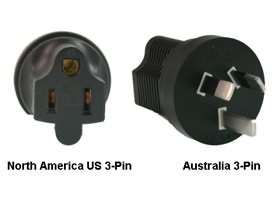 Image 1 of North America Us 3-pin To Australia Power Adapter Plug PA-3515