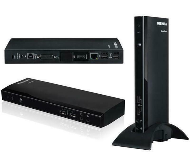 Image 1 of Toshiba Dynadock 4K Universal Docking Station, USB3.0, HDMI, DisplayPort, Gigabit Lan, DVI-I, Mic, Dual Display PA5217A-1PRP PA5217A-1PRP