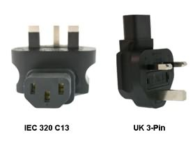 Image 1 of Iec 320-c13 To Uk 3-pin Power Adapter PA-6012L