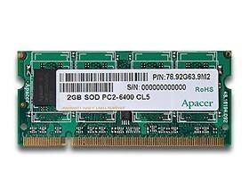Image 1 of Apacer Ddr2 Sodimm Pc5300-2gb 667mhz 128x8 Cl5 Retail Pack CS.02G2A.F0M