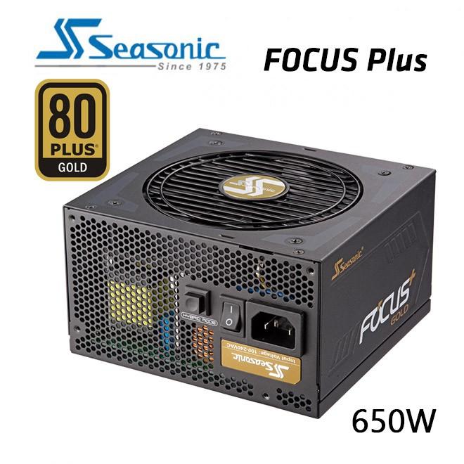 Image 1 of Seasonic Ssr-650Fx Focus Plus 650W 80 + Gold Power Supply Gx-650 (Oneseasonic) Psuseafocus650Fx1 PSUSEAFOCUS650FX1
