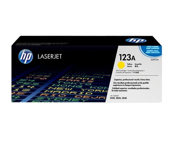 Image 1 of Hp Q3972a Yellow Toner Cartridge For Clj2550