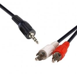 8WARE 3.5 ST Plug - 2 x RCA Plug 2m