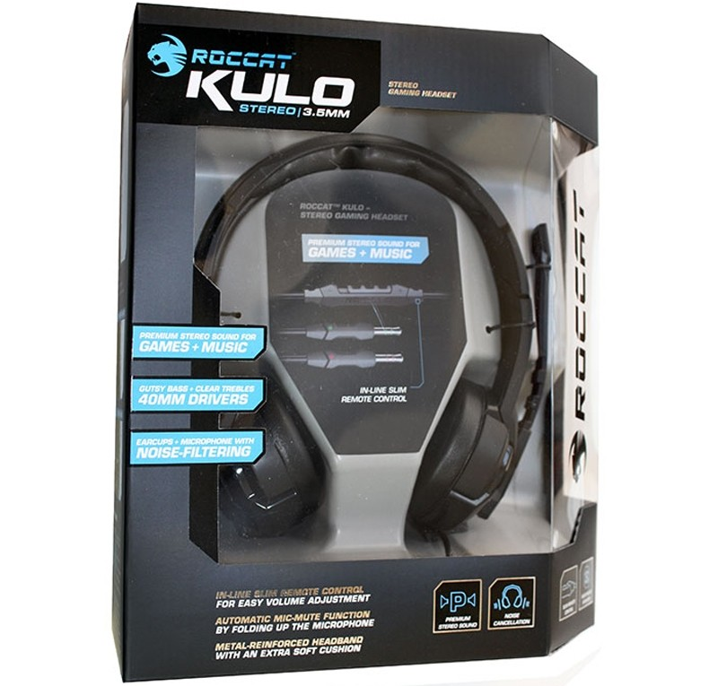 Image 1 of Roccat Kulo Premium Stereo Gaming Headset with Mic ROC-14-600-AS ROC-14-600-AS