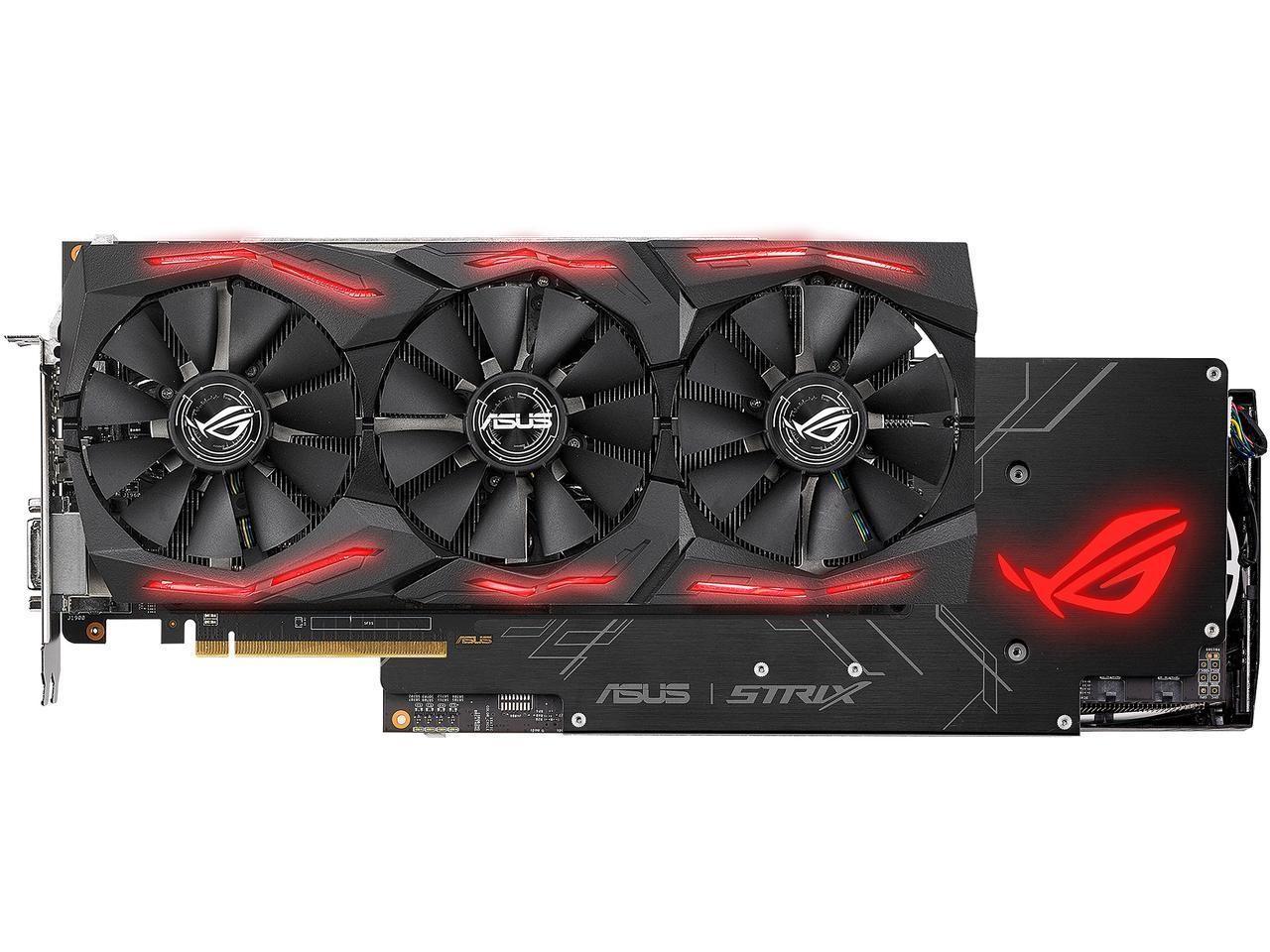Image 1 of Asus Rog Strix Radeon Rx Vega64 8gb Oc Edition Vr Ready 5k Hd Gaming Dp Hdmi Dvi Amd Gaming Graphics ROG-STRIX-RXVEGA64-O8G-GAMING