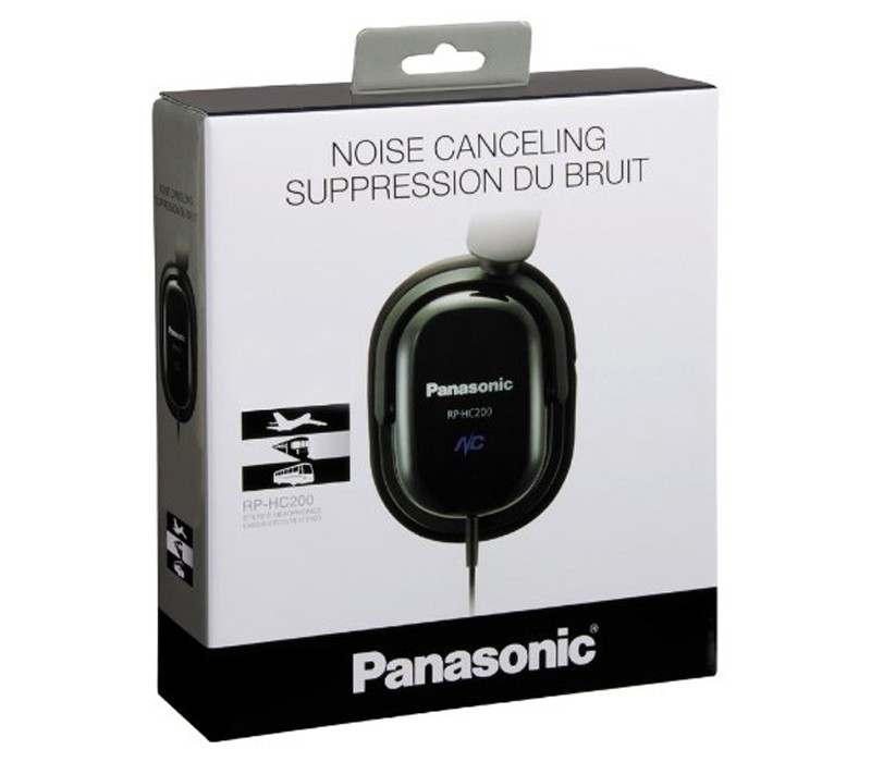 Image 1 of Panasonic Noise Cancelling Headphones RP-HC200, Noise Cancelling Technology with Slim Fold Flat Design RP-HC200-K