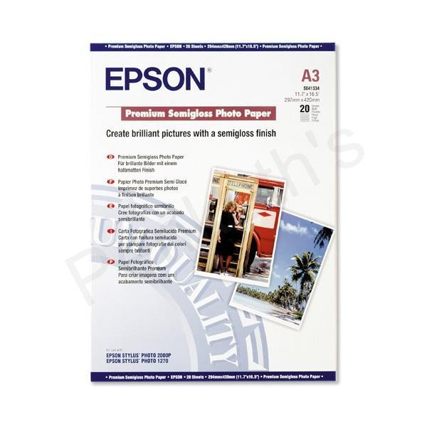 Image 1 of Epson S041068 Photo Quality Inkjet Paper A3 100 Sheets C13S041068