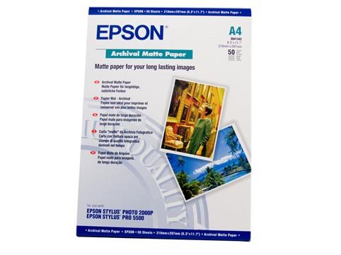 Image 1 of Epson S041342 A4 Archival Matte Paper 50 Sheets C13S041342