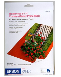 Image 1 of Epson S041464 5 X 7 Inch Premium Glossy Photo Paper 20 Pack C13S041464
