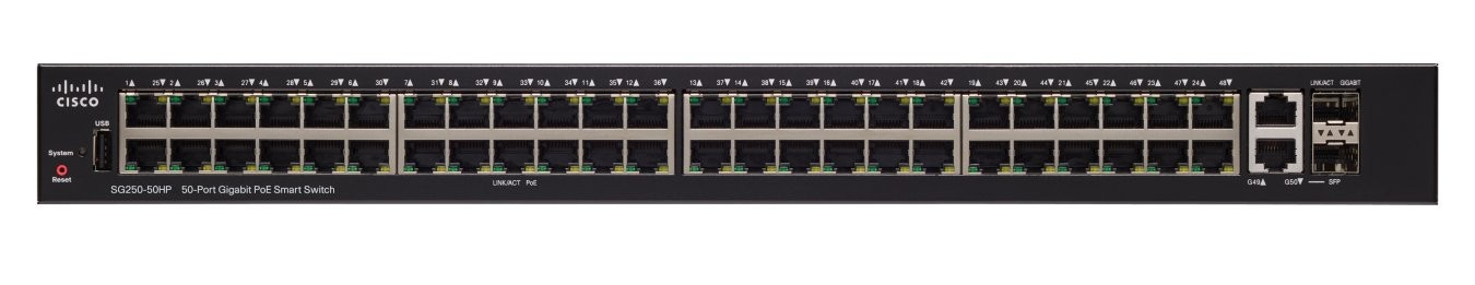Image 1 of Cisco (Sg250-50-K9-Au) Cisco Sg250-50 50-Port Gigabit Smart Switch Sg250-50-K9-Au SG250-50-K9-AU