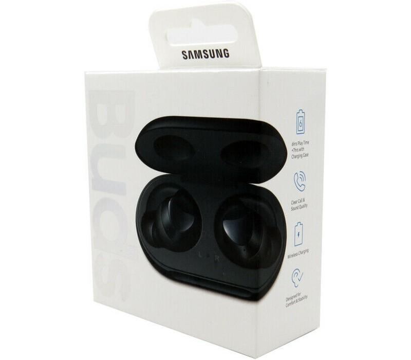 Image 1 of Samsung Galaxy Buds Bluetooth True Wireless Earbuds with Wireless Charging Case Black SM-R170NZKAXSA SM-R170NZKAXSA