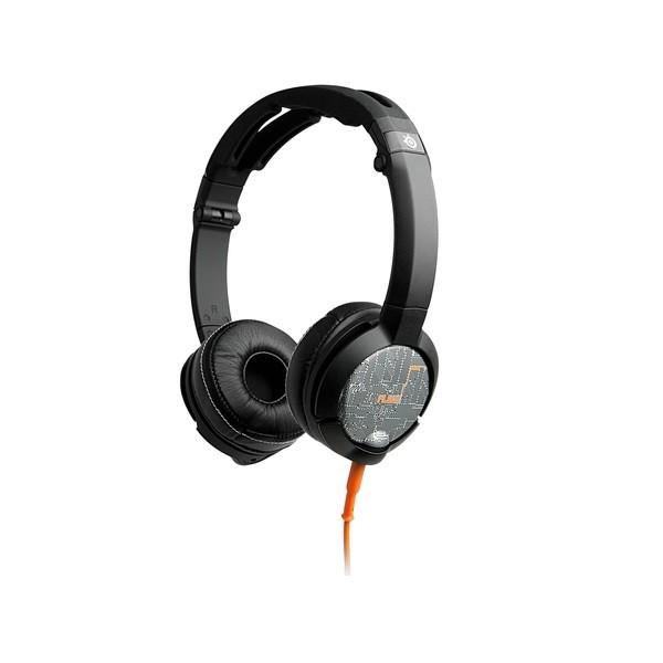 Image 1 of Steelseries Silver, Orange & Black Flux Luxury Edition 3.5mm Headset Ss-61283 SS-61283