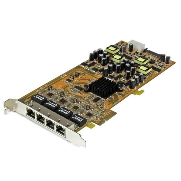 Image 1 of Startech 4 Port Gigabit Poe Pcie Network Card (St4000Pexpse) ST4000PEXPSE