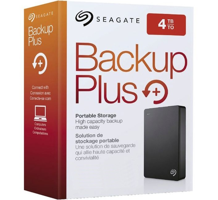Image 1 of Seagate Backup Plus 4TB USB3.0 Portable External HDD, Simple PC Backup Software STDR4000300