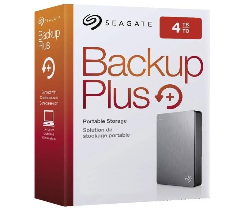 "Image 1 of Seagate 4TB Backup Plus Portable 2.5"" External Hard Drive USB3.0 Silver STDR4000301 STDR4000301"