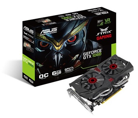 Image 1 of ASUS STRIX GEFORCE GTX 1060 PC EDITION 6GB GDDR5 VR AND 4K STRIX-GTX1060-DC2O6G STRIX-GTX1060-DC2O6G