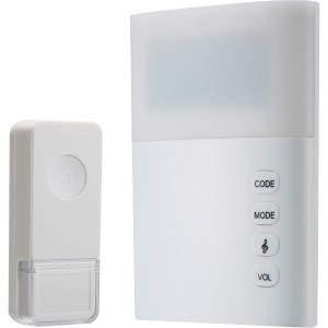 SWANN WIRELESS DOORCHIME WITH MAINS POWER & LARGE LED INDICATOR LIGHT