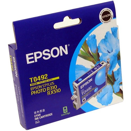 Image 1 of Epson T049290 CYAN INK CARTRIDGE FOR RX630/ RX510/ R310/ R210, 430pages C13T049290