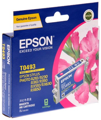 Image 1 of Epson T049390 MAGENTA INK CARTRIDGE FOR RX630/ RX510/ R310/ R210, 430pages C13T049390