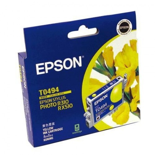Image 1 of Epson T049490 YELLOW INK CARTRIDGE FOR RX630/ RX510/ R310/ R210, 430pages C13T049490