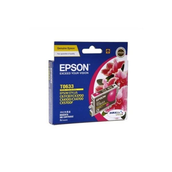 Image 1 of Epson T063390 Magenta Ink Cartridge For C67/ C87, Cx3700/ 4100/ 4700, 380page C13T063390