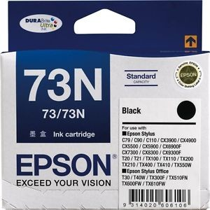 Image 1 of Epson T105192, Black Ink For C79/ C90/ C110/ Cx5500/ Cx6900f/ 7300/ 8300/ 9300f C13T105192